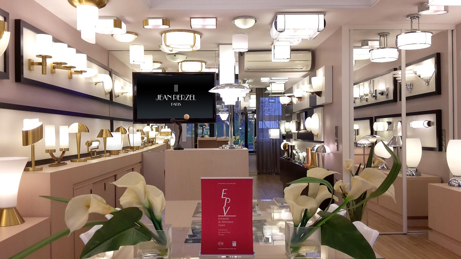 Showroom jean perzel luminaires atelier jean perzel - Magasin de luminaire paris ...