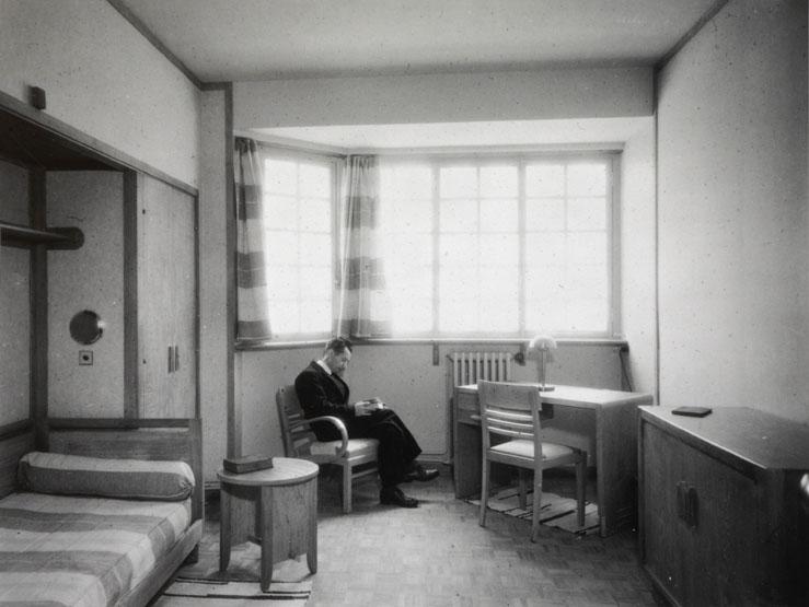 Student room, circa 1937. Heritage enhancement center (c) Cité internationale universitaire de Paris