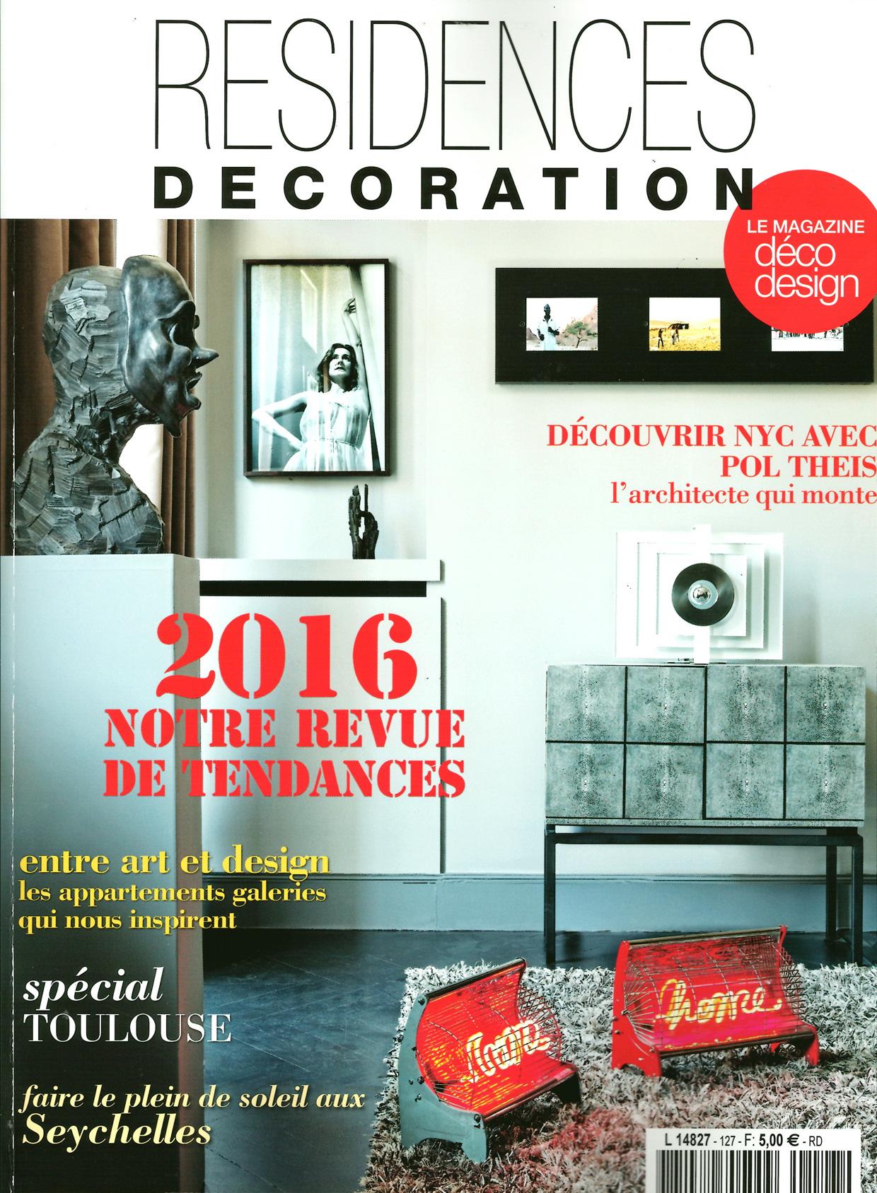 Résidences Décoration - Janvier 2016 - Page 0