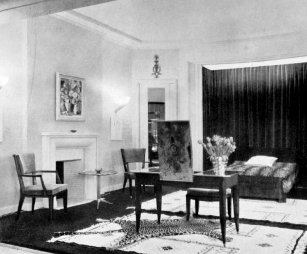 Chambre par Lucien Rollin - Eclairage par Jean Perzel - SAD 1932