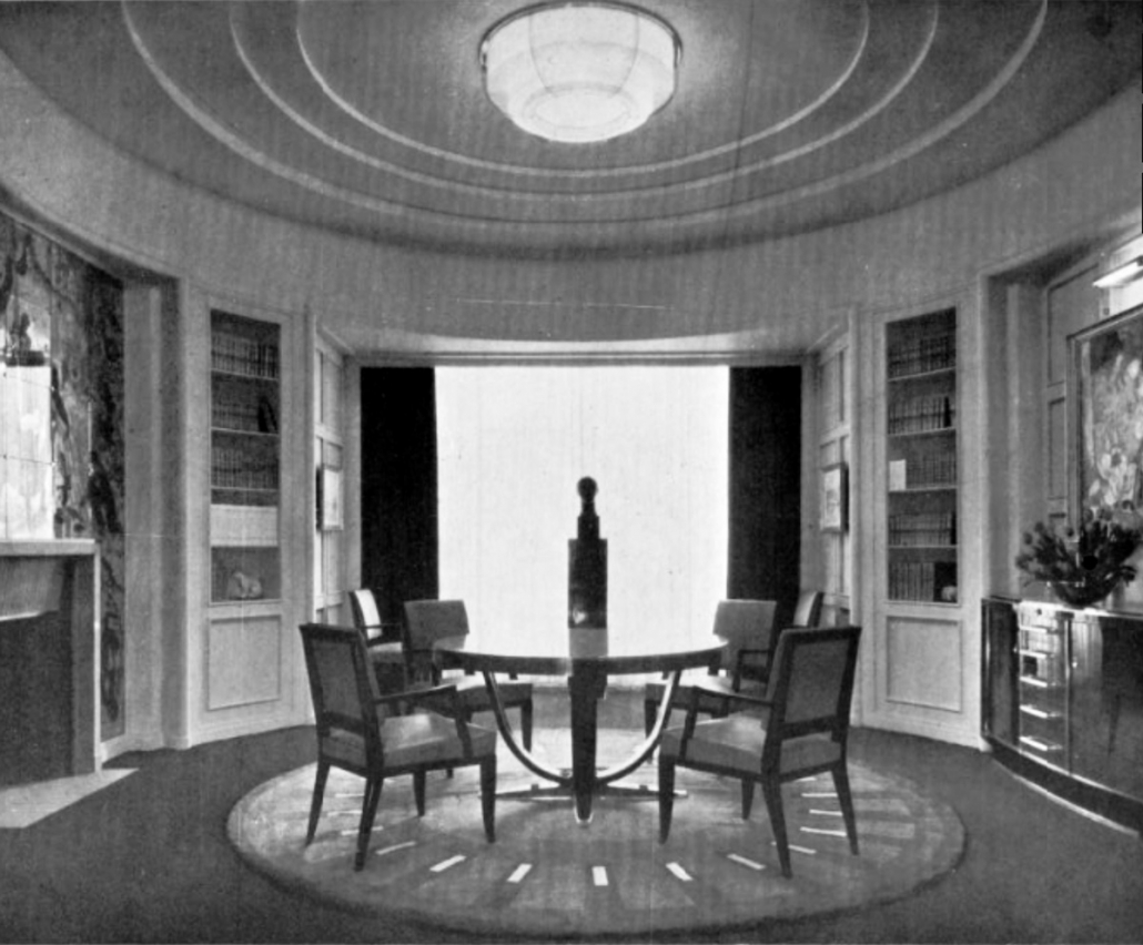 Salle à manger par Lucien Rollin - Eclairage par Jean Perzel - SAD 1932