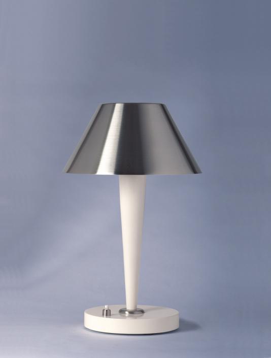 Lampe REF. 506 - nickel + blanc