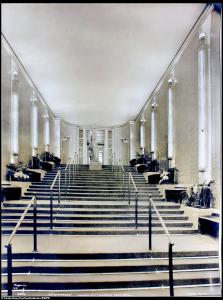 Escaliers du Grand salon - Paquebot Normandie