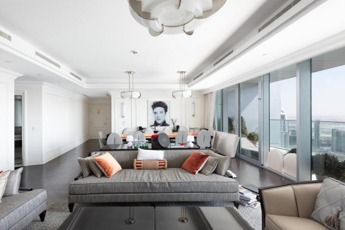 The Address Boulevard Penthouse Dubaï - Lightings by Jean Perzel REF. 326 A / REF. 354 bis S