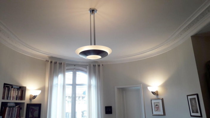 Applique / Wall light 347 BV & Plafonnier / Ceiling light 601 TER by Jean Perzel